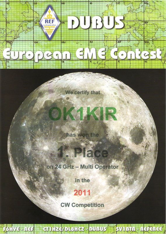 2011 24 GHz European EME Contest