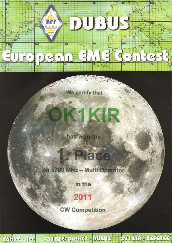 2011 5.7 GHz European EME Contest