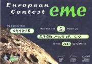 2005 5.7 GHz European EME Contest