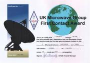 First G-OK 3 cm EME Contact Award