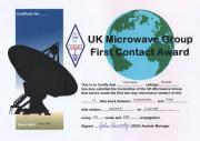 First GW-OK 23 cm EME Contact Award