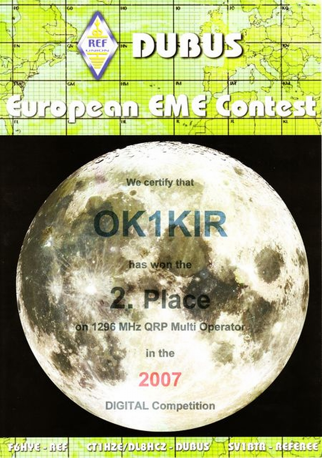 2007 1.3 GHz European EME Contest - Digital Mode